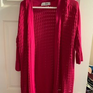 Beautiful pink duster/sweater by Jones of NY 1x